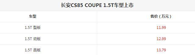 觉得吉利星越太贵?长安CS85 COUPE 1.5T正式上市-阿里汽车