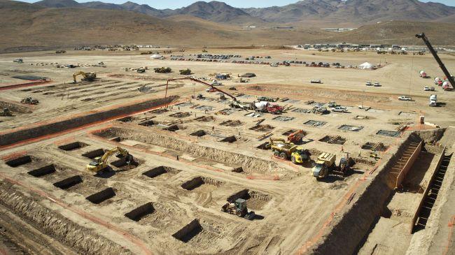 建设中的giga工厂