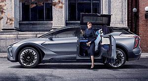 华人运通发布豪华智能纯电品牌高合HiPhi 首款量产定型车亮相