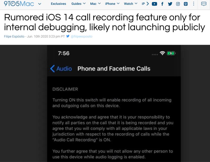 【200611】放弃隐私!苹果iOS 14支持电话和 Facetime通话录音功能?167_副本.png