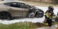 特斯拉Model S又又又又燃了  这一次是电池爆炸?