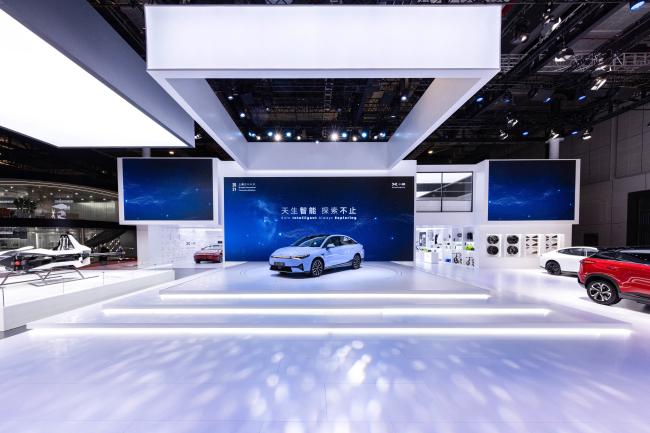 图1:小鹏汽车上海车展展台