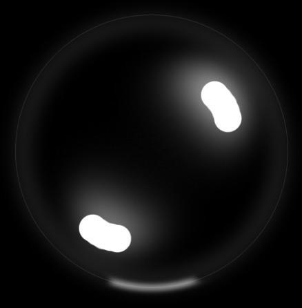 photoshop简单制作飘逸的透明气泡