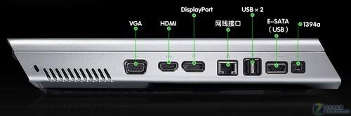 戴尔/机身线条很有个性,提供三种视频输出接口...