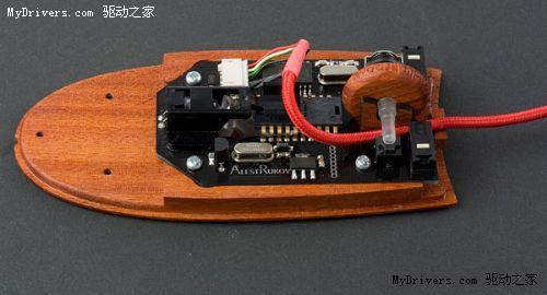 名贵木材+手工打造 设计师独制奢侈鼠标