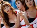 性感赛车女郎抢镜F1,韩国美女尽显火辣身材